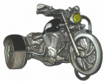 Black Trike Belt Buckle with display stand. Code SE4